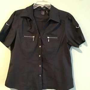Cotton Express Stretch Button Down Shirt SZ PXL